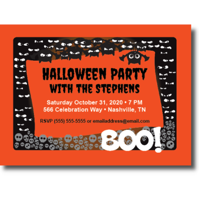 Bats and Boos Halloween Party Invite